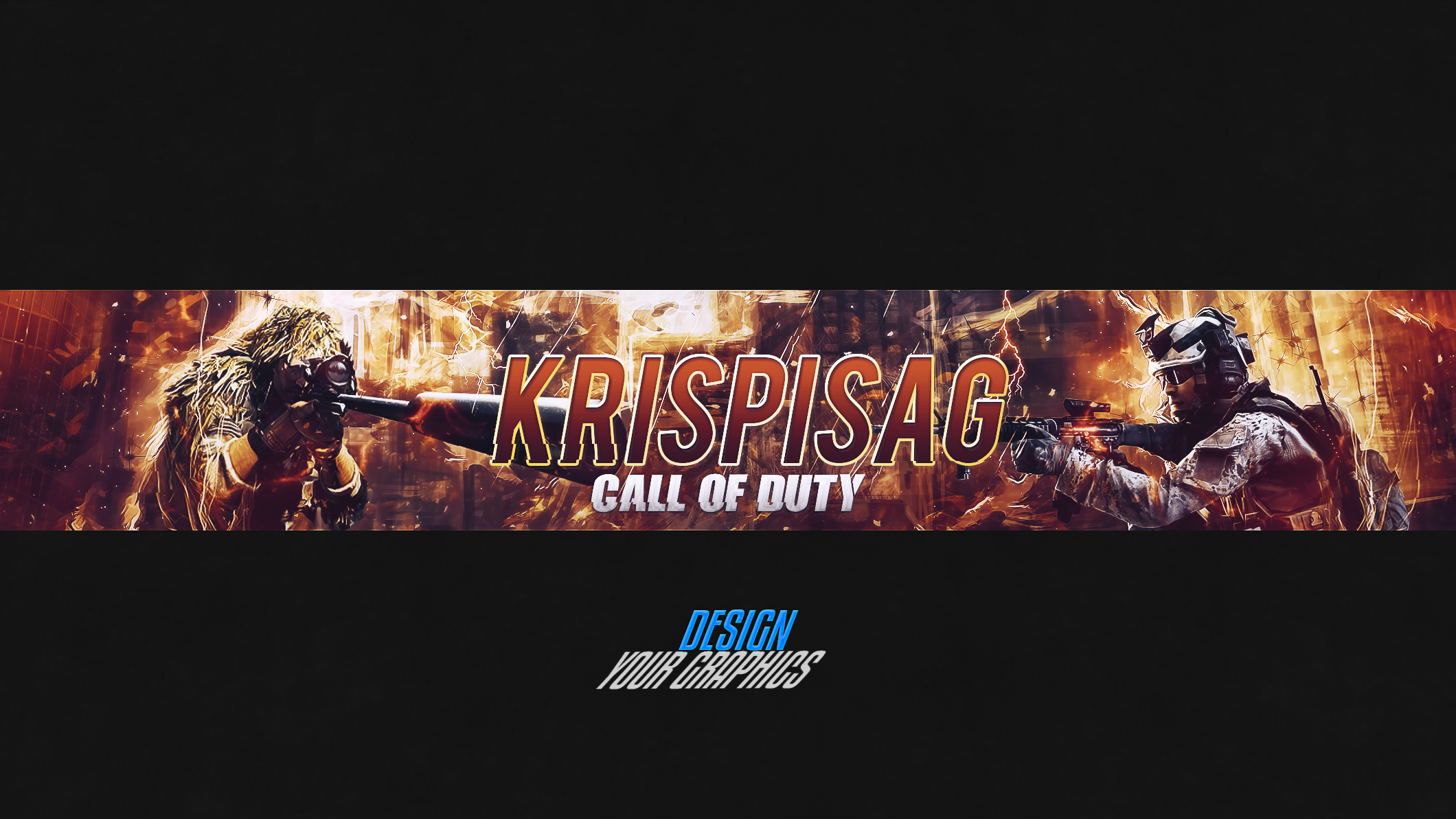 Photoshop poster design youtube -  Call Of Duty Youtube Banner Photoshop Psd By Cagbcn