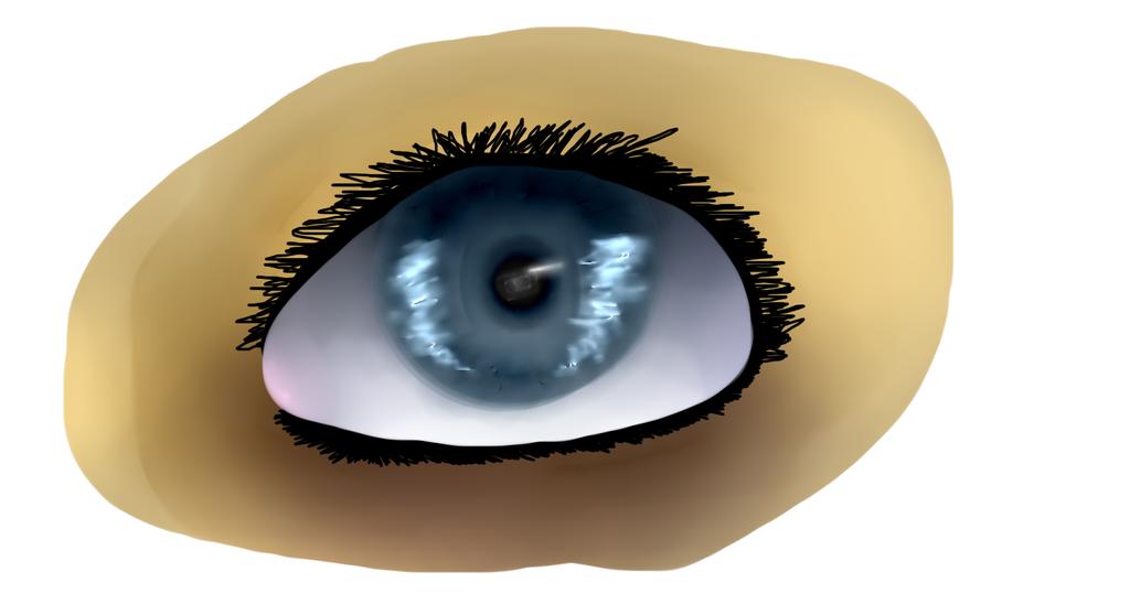 Carntoonish Realstic eye drawing by Emiko-Hanna