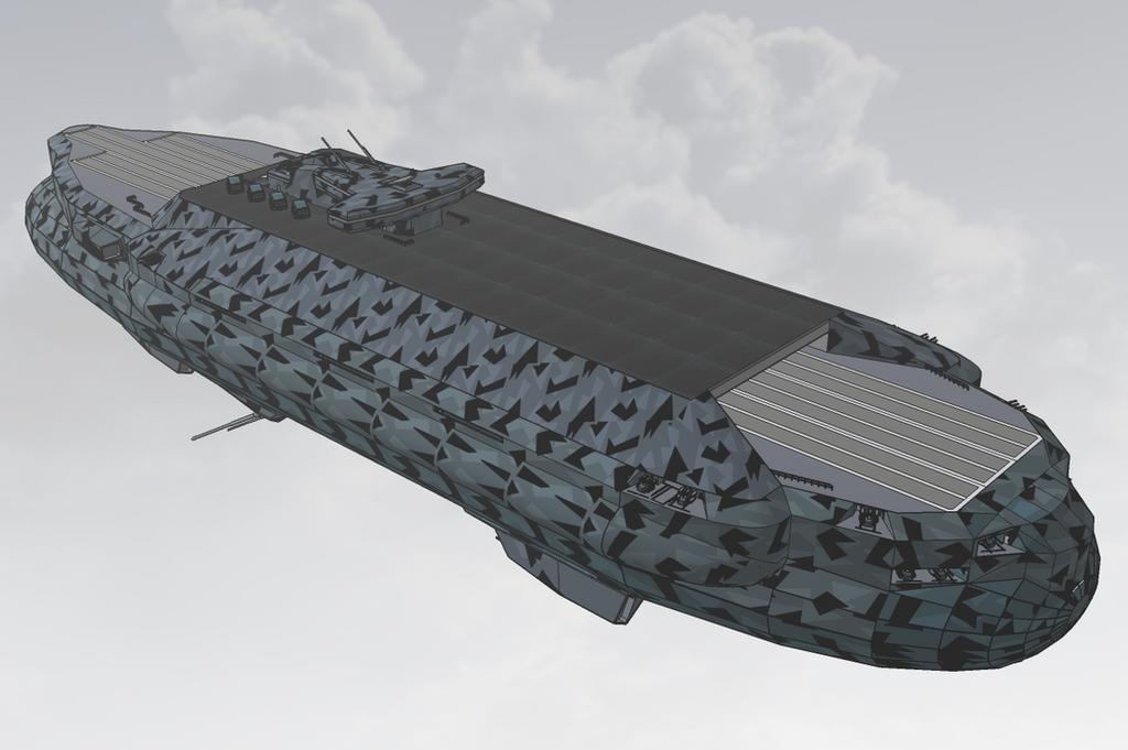 M-Tec Kambahr Debhin - Rhantogg flattop airship by NikitaTarsov