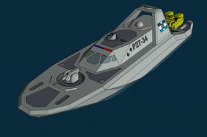 Patrolboat of the Trewhittian Commonwealth by NikitaTarsov