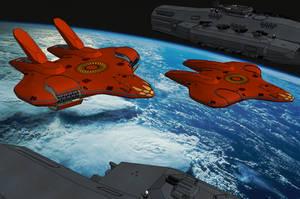 Ra'an-Infiltrationsbomber Nage'etay-Klasse by NikitaTarsov