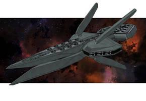 Uhsadi empire battleship Schattenwache-class by NikitaTarsov