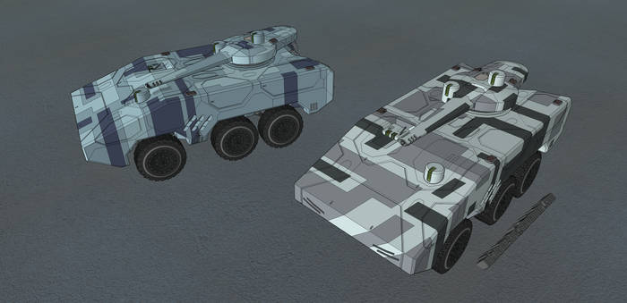 M-Tec Schakal MRP Schuetzenpanzer Urban by NikitaTarsov