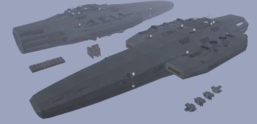 DFDBS - Ra'an - Sandviper-class cruiser 2