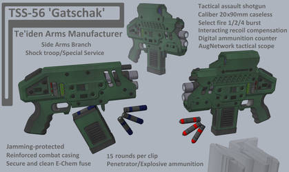 M-Tec Teiden Gatschack TSS-56 AutoShotgun Pistol