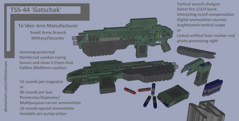 M-Tec Te'iden Gatschack TSS-44 Assault Shotgun