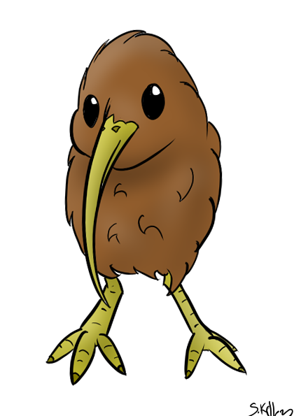 Cute Kiwi Bird Drawing Kiwi bird by mew-tew