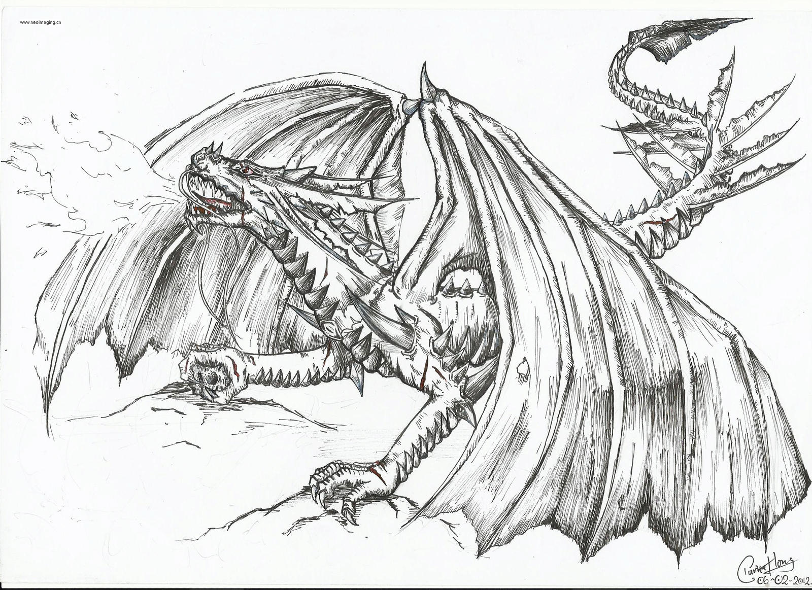 The Fire-breathing Dragon by dino-wolf on DeviantArt