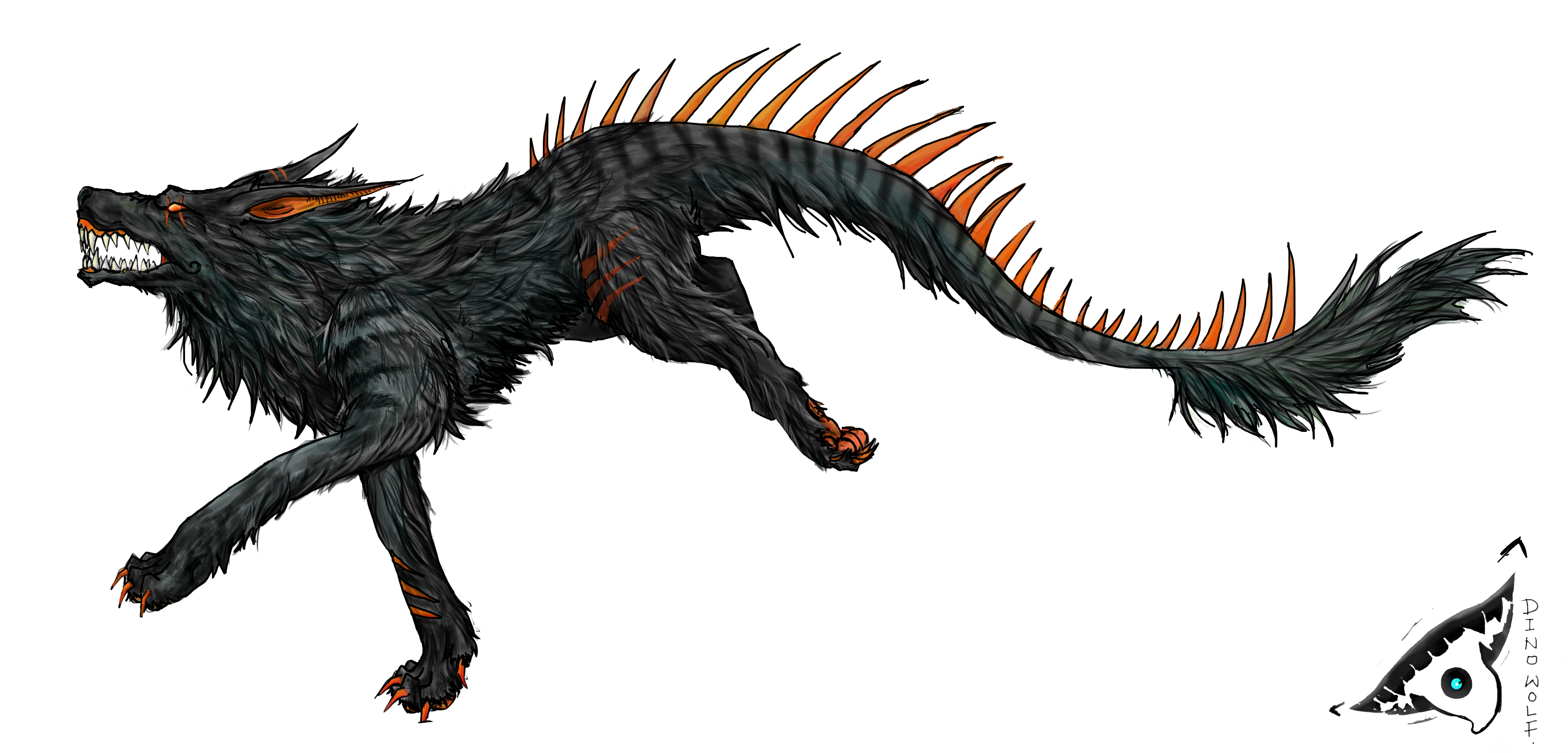 Angry Black Wolf Drawing Running in anger by dino-wolf Angry Black Wolf Drawing