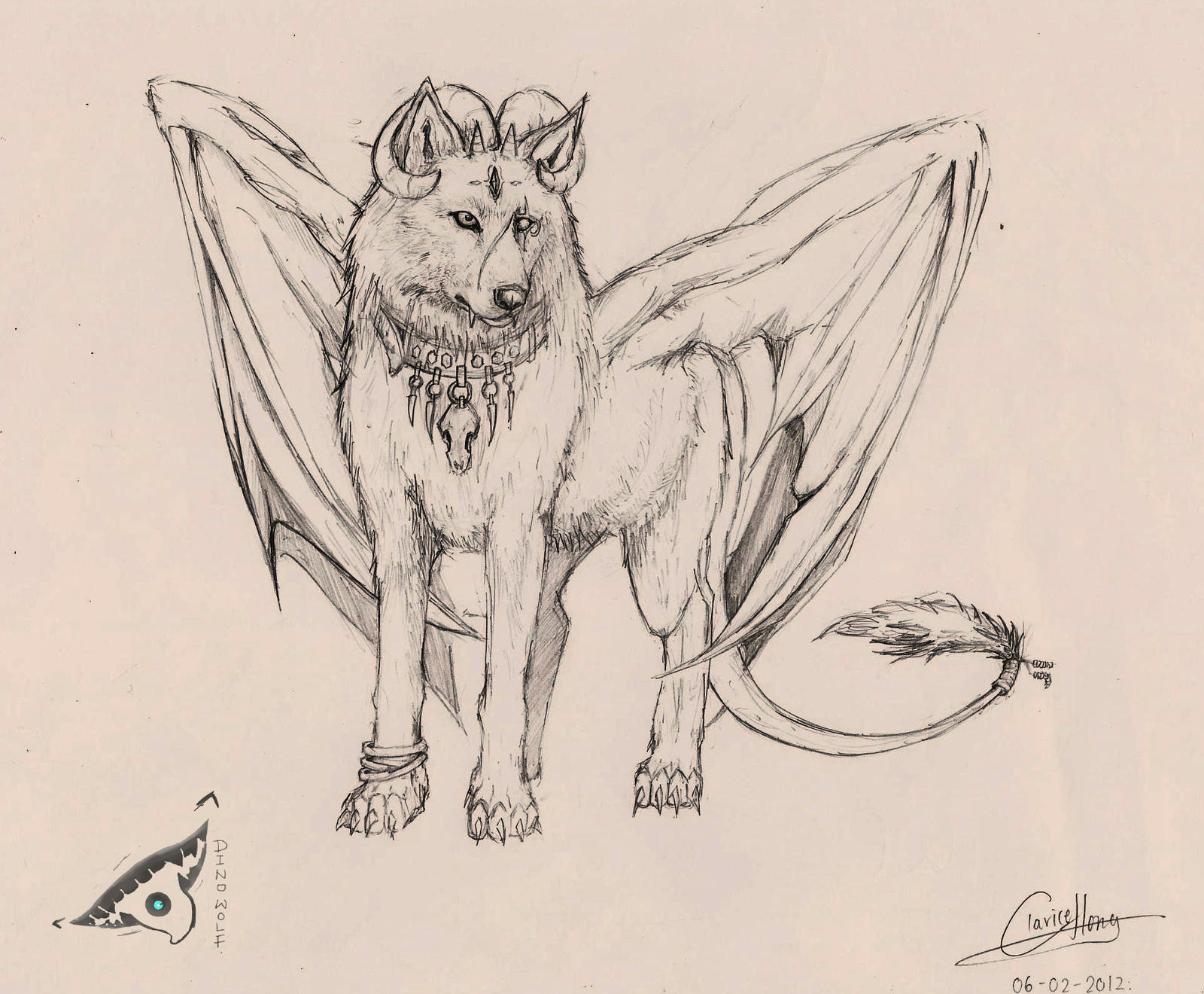 By dino wolf traditional art drawings fantasy 2013 2014 dino wolf