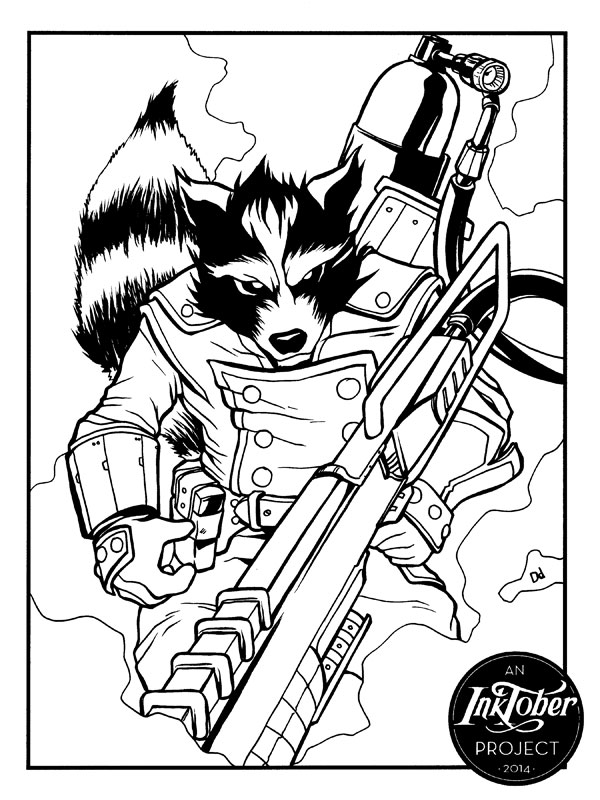 Rocket Raccoon by daledriven