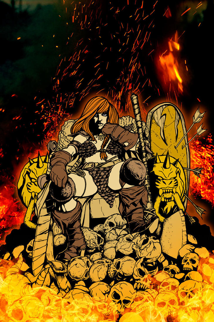 Red Sonja Dynamite Cover Contest by daledriven