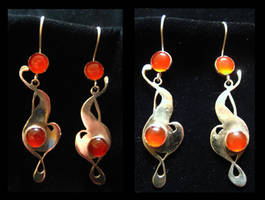 Carnelian Nouveau Earrings