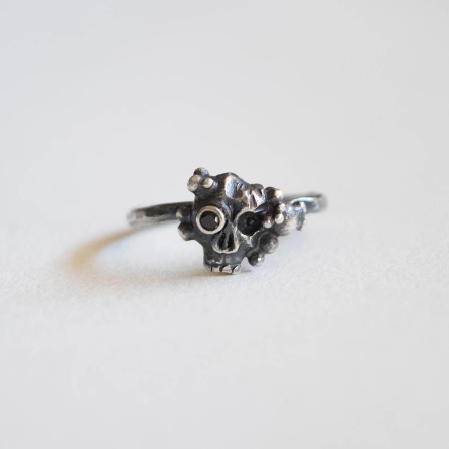 Grody Skull Ring by ilkela