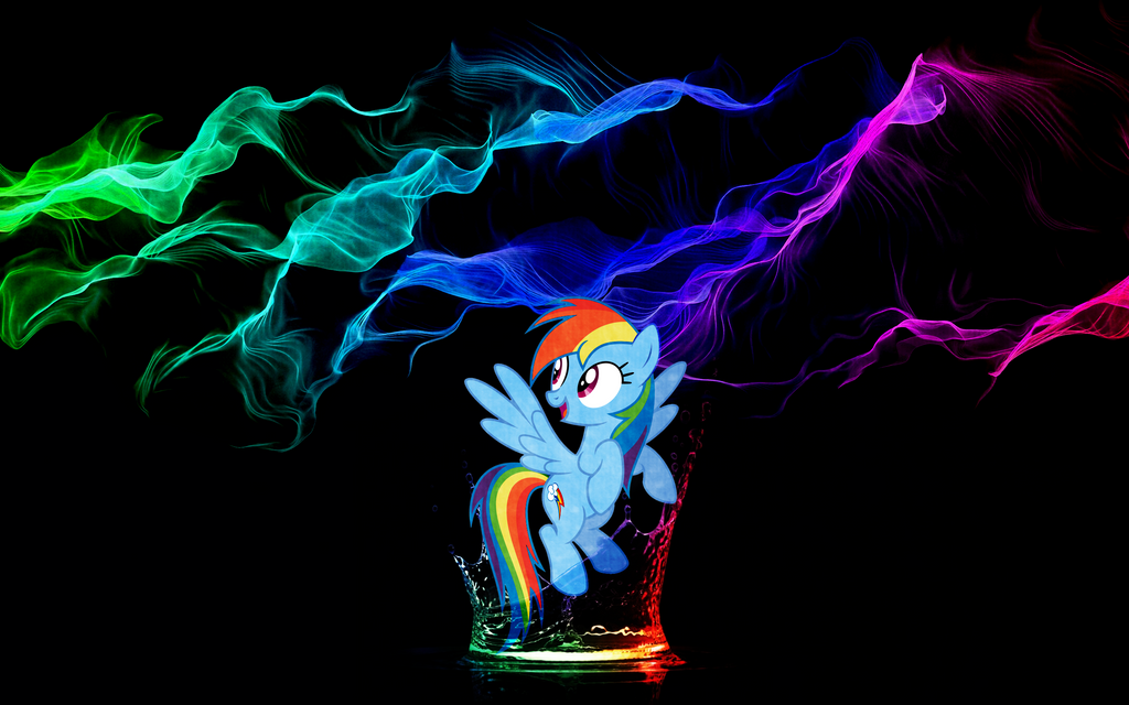 [Wallpaper] Dash Splash [MLP] by RicePoison
