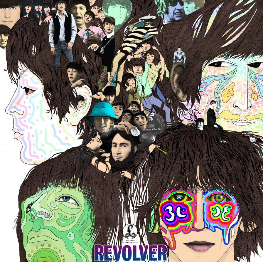 The Beatles - Revolver Cover with Colors by MisterTekake on
