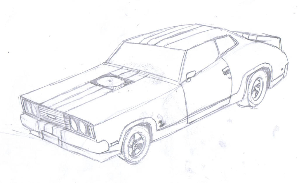 ford falcon xc drawing by silnev on deviantart