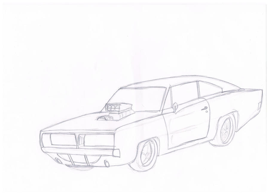 dodge charger drawing by silnev on deviantart
