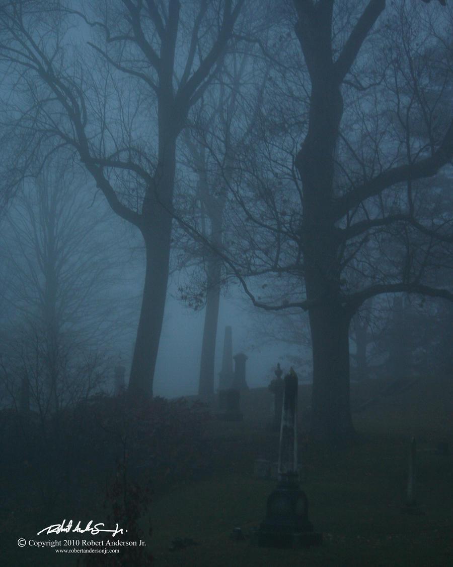 Foggy Graveyard By RobAndersonJr