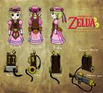 Zelda Steampunk: Zelda Character Design Sheet
