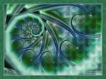 Blue Swirly Twirlies