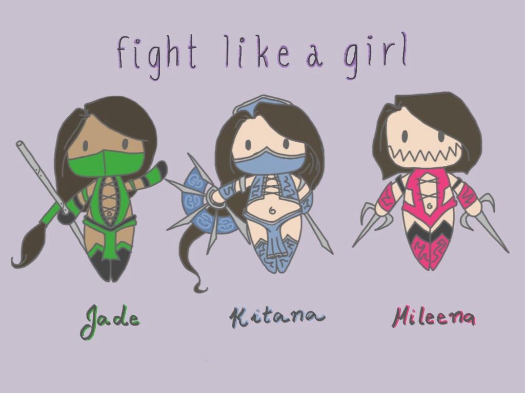 fight like a girl wallpaper - photo #17