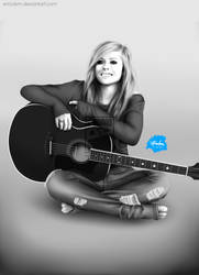 Avril Lavigne on Acoustic by emclem