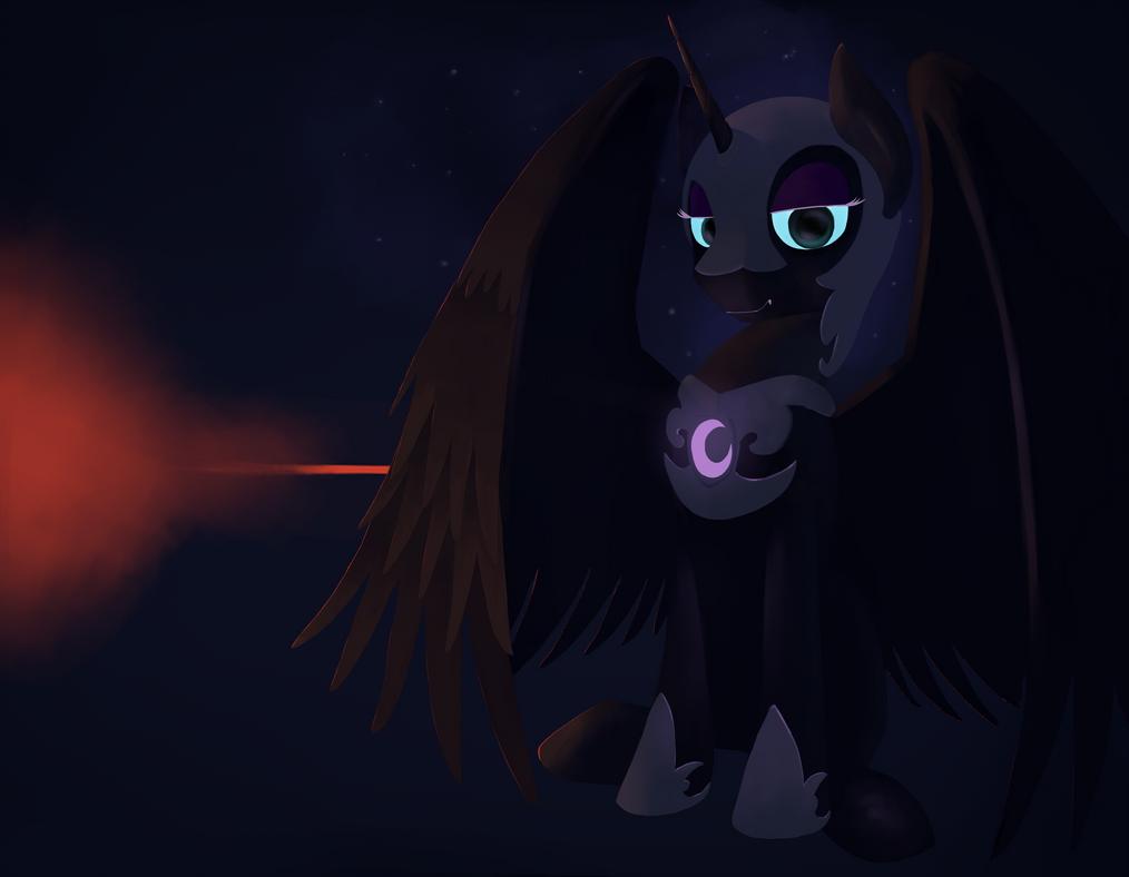 Nightmare moon by Hiponov