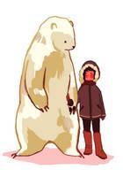 polar bear by xuh