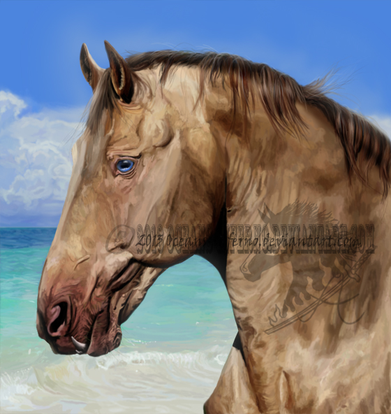 Caribbean Blue (painting) by oceans-inferno