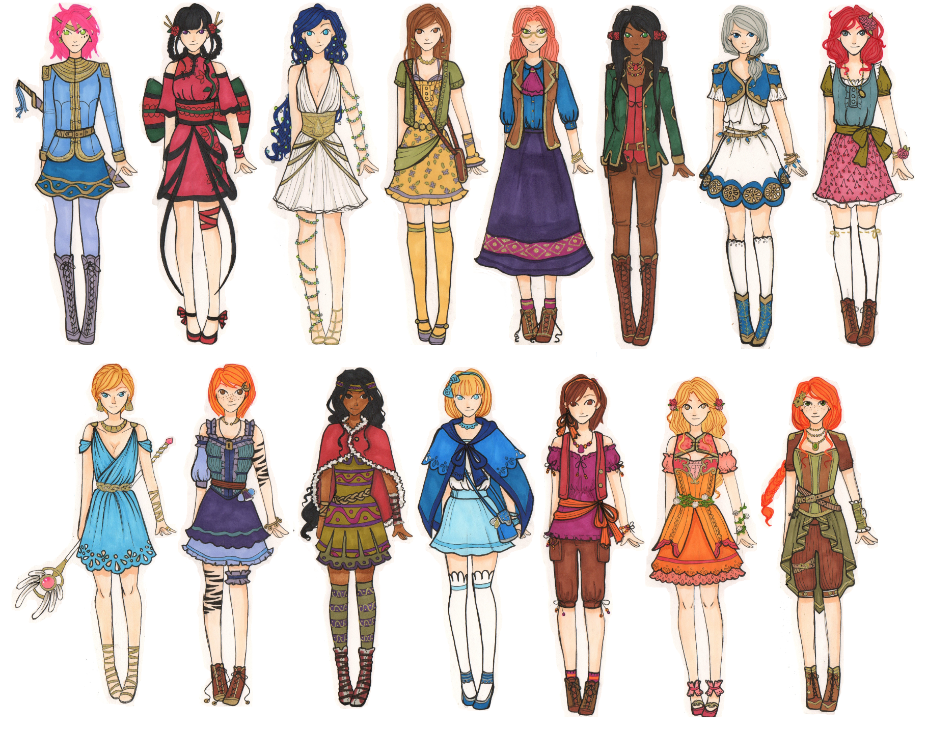 Girl Fantasy Ocs UPDATED By AddzB On DeviantArt