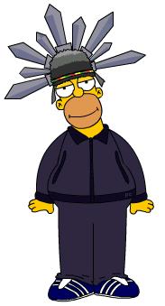 Homer Simpson as Jay Kay by PanderChan