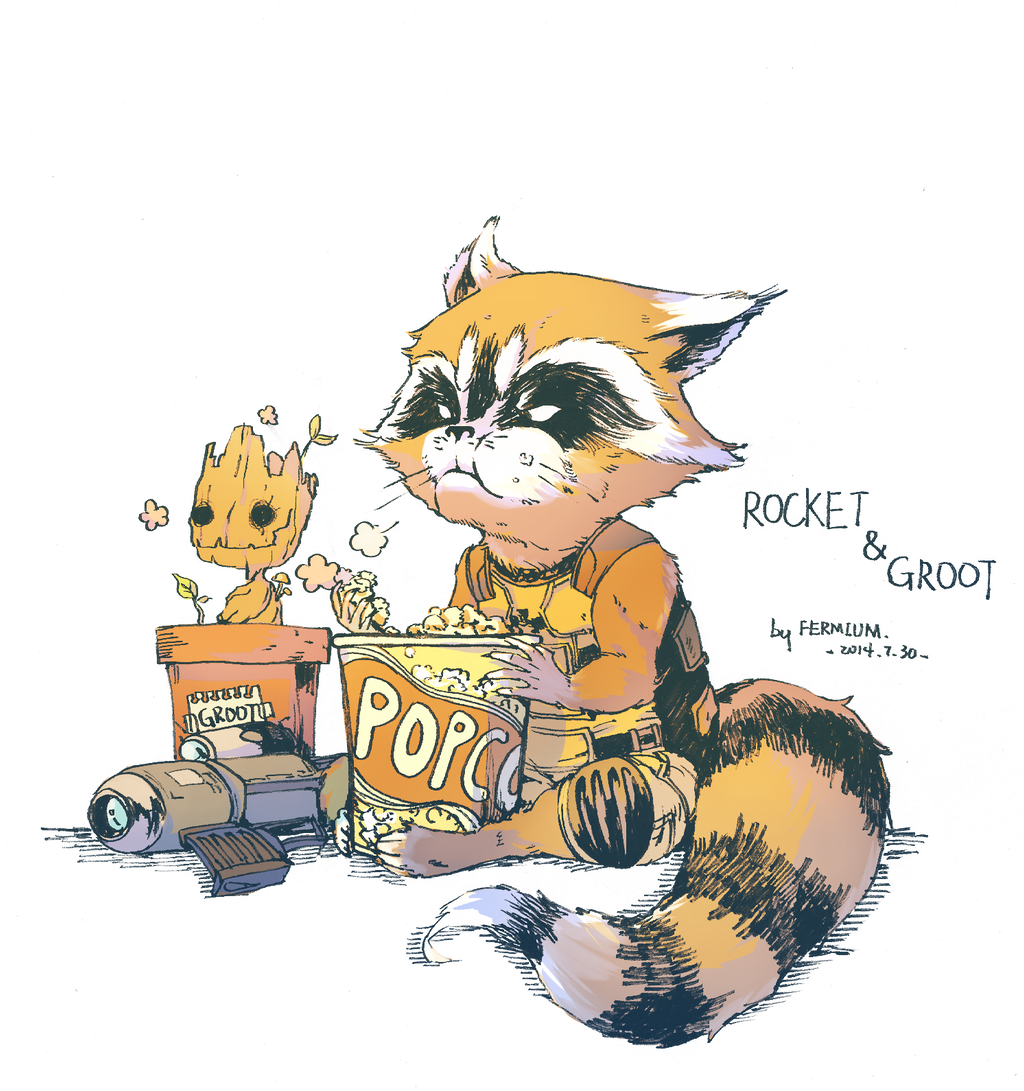 Star Lord And Rocket Raccoon By Timothygreenii On Deviantart: Groot And Rocket By FermiumIce On DeviantArt