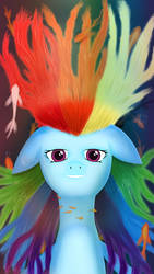 Relaxed Rainbow Dash by Oliminor