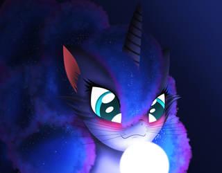 Luna Cat/Pony hybrid  (I think) by Oliminor