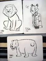 Lion, Tiger and Bear by BahalaNa