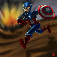 WWII: Captain America by BahalaNa