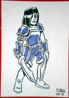 Blue Warrior by BahalaNa