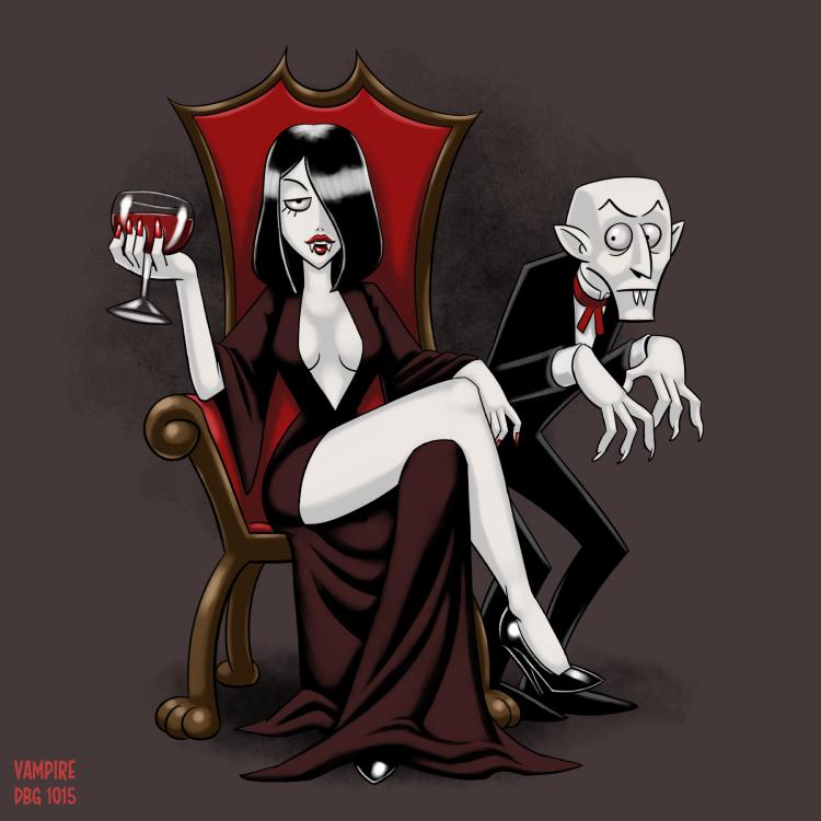 Drawlloween - 04 Vampire by BahalaNa