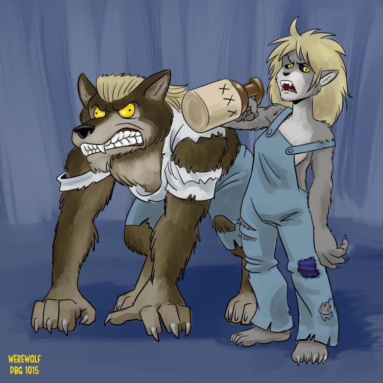 Drawlloween - 05 Werewolf by BahalaNa