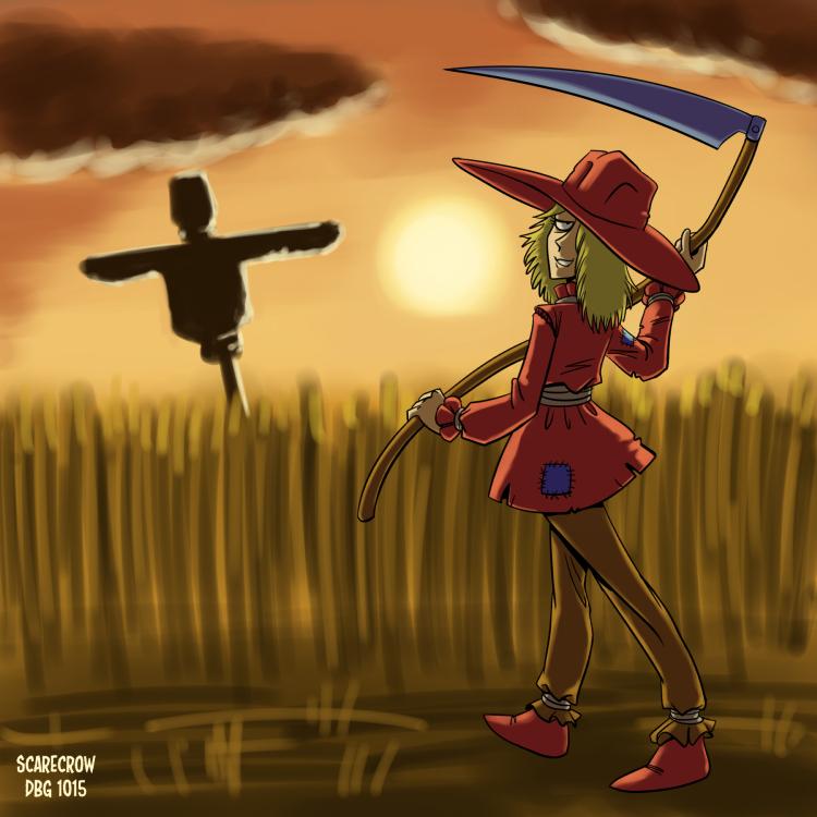 Drawlloween - 29 Scarecrow by BahalaNa