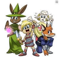 The Derivative Sub-Manga Furry Treasure Hunters! by BahalaNa