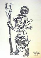 Goblin Shaman by BahalaNa