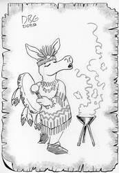 Aardvark Shaman by BahalaNa