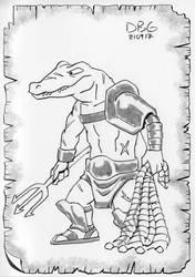 Alligator Gladiator by BahalaNa