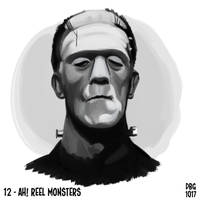 Drawlloween - 12 - Ah! Reel Monsters by BahalaNa