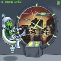Drawlloween - 10 - Martian Mayhem by BahalaNa