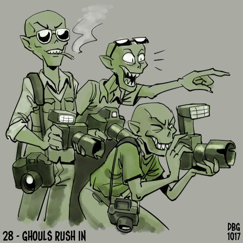 Drawlloween - 28 - Ghouls Rush In by BahalaNa