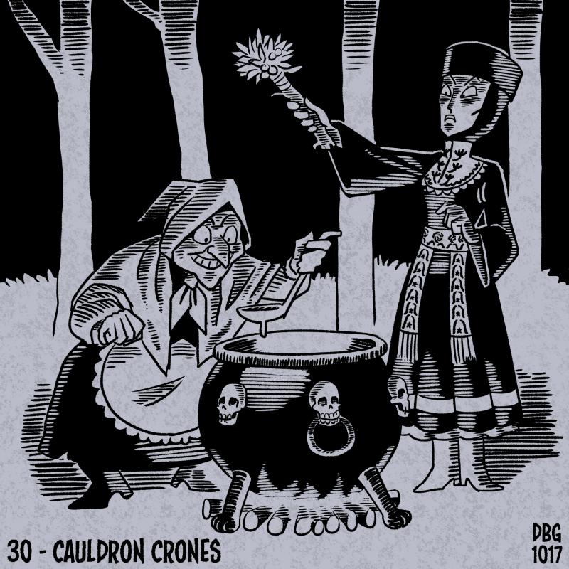 Drawlloween - 30 - Cauldron Crones by BahalaNa