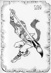 Monkey Martial Artist by BahalaNa